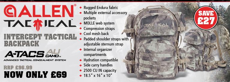 Allen Intercept Tactical Backpack - A-TACS AU Camo