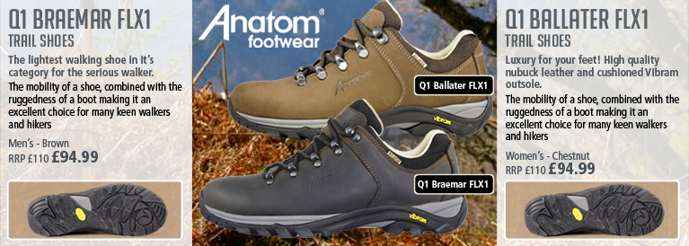Anatom Q1 Braemar FLX1 Trail Shoe and Q1 Ballater FLX1 Trail Shoe