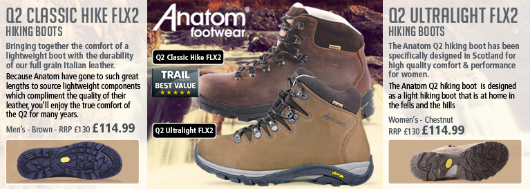 Anatom Q2 Classic Hike FLX2 and Q2 Ultralight FLX2 Hiking Boots