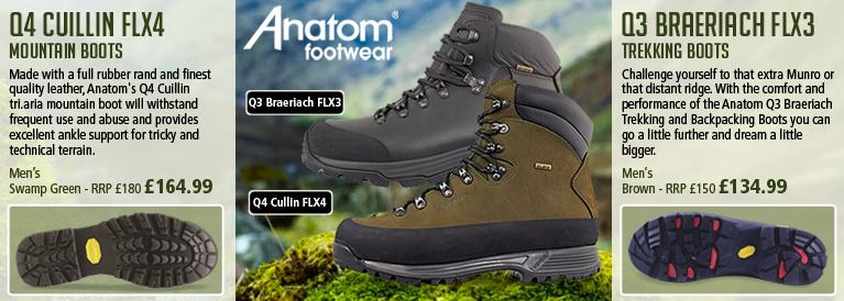 Anatom Q4 Cuillin FLX4 Mountain Boot and Q3 Braeriach FLX3 Trekking Boots