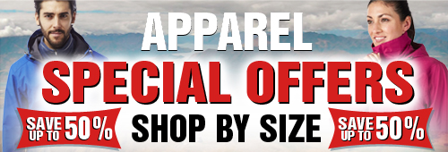Apparel Special Offers - Shop by Size