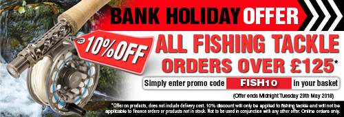 Bank Holiday Offer 10 Percent Off all Fishing Tackle