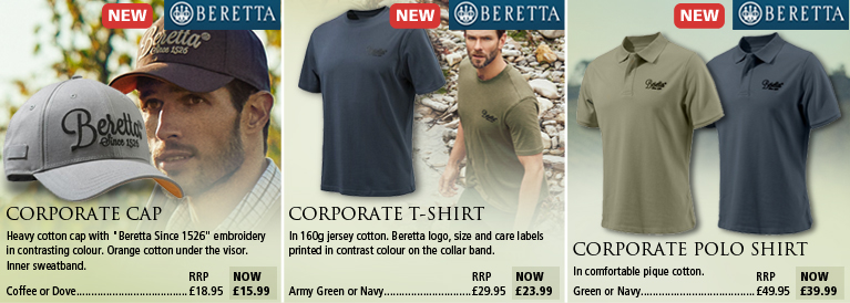 Beretta Coporate Cap, T-Shirt and Polo