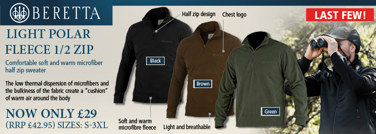Beretta Light Polar Fleece 1/2 Zip