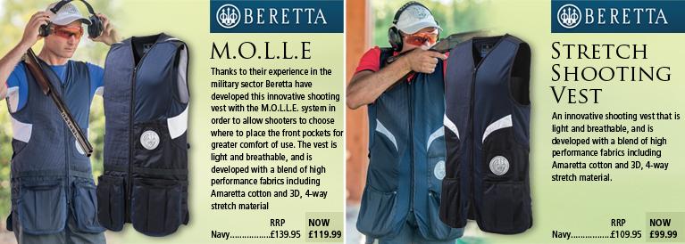 Beretta M.O.L.L.E and Stretch Vests