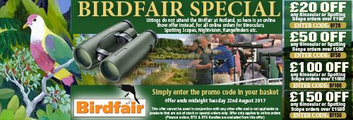 Birdfair Promotional Offer 2017