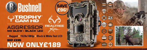 Bushnell Trophy Cam Aggressor HD - 14MP - No Glow - Black LED - Realtree Xtra Camo