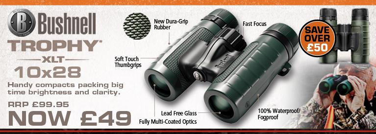 Bushnell 10x28 Trophy XLT Binoculars