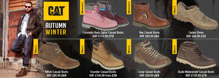 CAT Autumn / Winter New for 2016 Footwear
