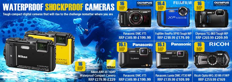 Waterproof and Shockproof Digital Cameras