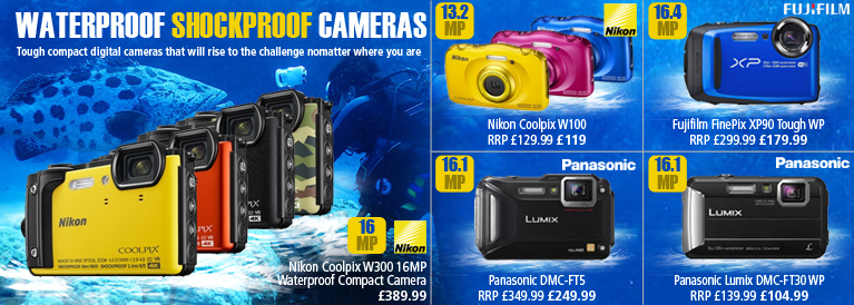 Waterproof and Shockproof Digital Cameras