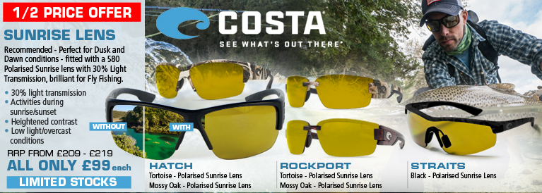 Costa Del Mar Sunrise Lens Sunglasses - Fishing