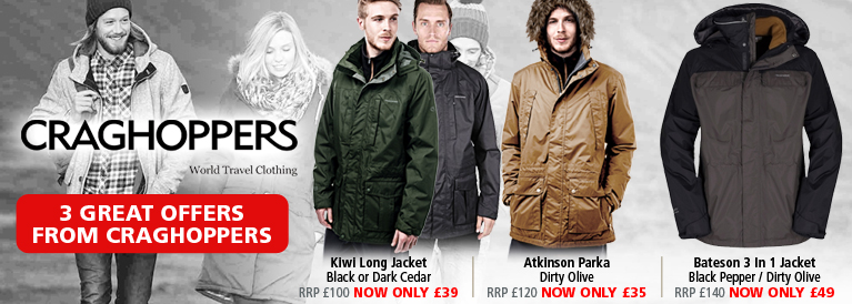 Craghoppers 3 New Great Offers