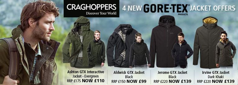 Craghoppers 4 New Gore-Tex Jackets