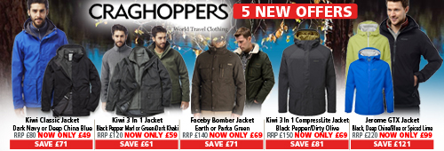 Craghoppers 5 Great New offers