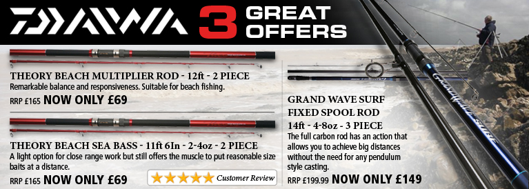 Daiwa 3 Great Offers
