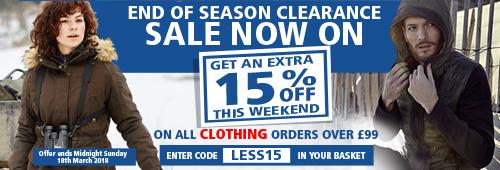 End of Season Clearance Sale