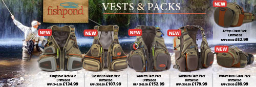 Fishpond Fishing Vesta and Packs