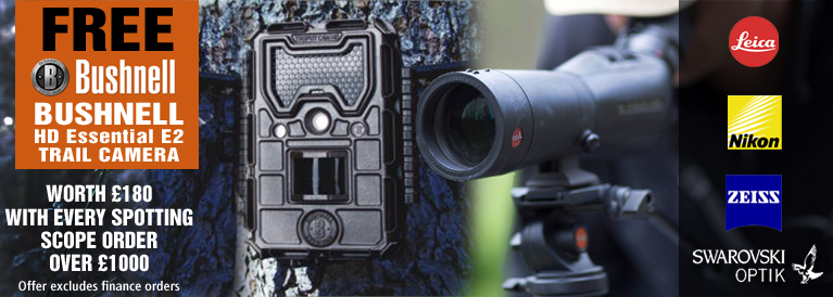 Free Bushnell Trail Camera with Every Spotting Scope over 1000