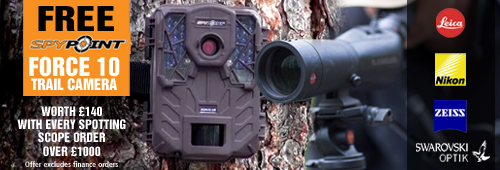 Free Spypoint Trail Camera with Every Spotting Scope over 1000
