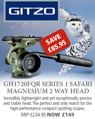 Gitzo GH1720FQR Series 1 Safari Magnesium 2 Way Head