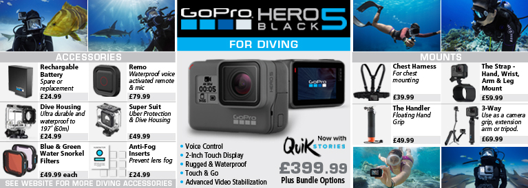 GoPro Hero5 Black Action Camera for Diving