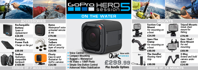 Go Pro Hero5 Session Destination Fishing