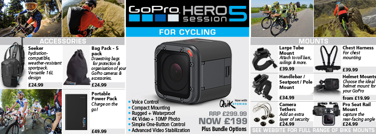 GoPro Hero5 Session Action For Cycling