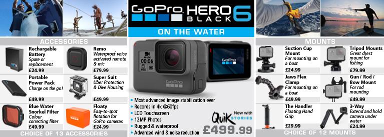 GoPro Hero 6 Black for Destination Fishing
