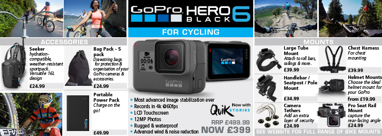 GoPro Hero5 Black Action Camera for Cycling