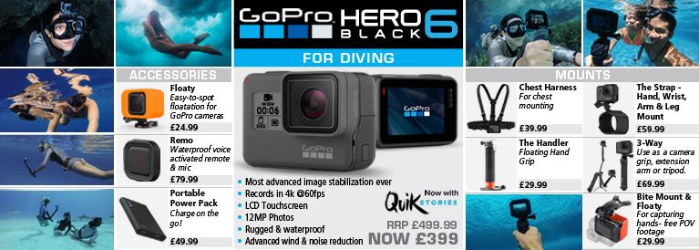 GoPro Hero 6 Black for Diving