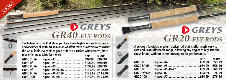 Greys GR40 and GR20 Fly Rods