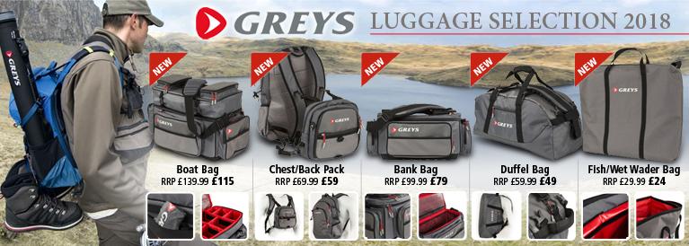 Greys Fishing Luggage Selection 2018