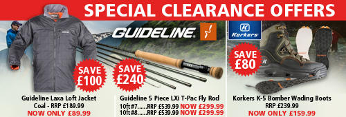 Guideline and Korkers Special Clearance Offers
