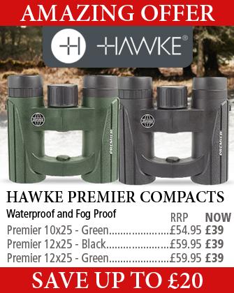 Hawke Premier 10x25 ans 12x25 Compact Binoculars