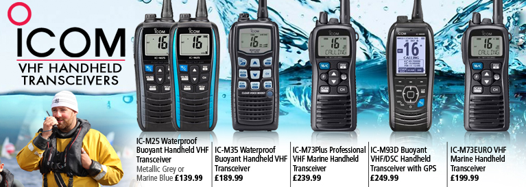 iCom VHF Handheld Transmitter Radios