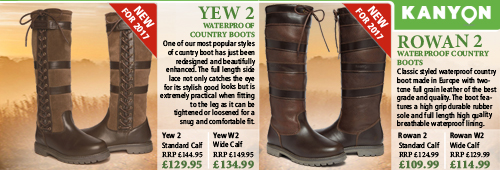 Kanyon Outdoor Yew 2 and Rowan 2 Country Boots