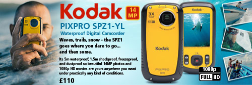 Kodak PIXPRO SPZ1-YL 14MP Waterproof Digital Camcorder - Yellow