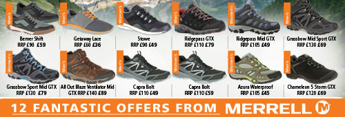 Merrell 12 Fantastic Offers