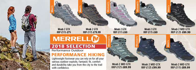 Merrell Performance Hiking 2018 Selection