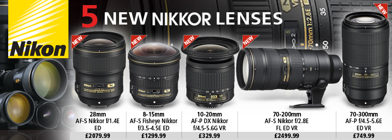 Nikon 5 New Nikkor Lenses