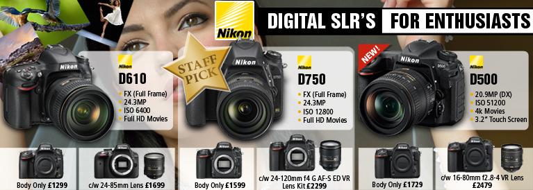 Nikon DSLR's for Enthusiasts