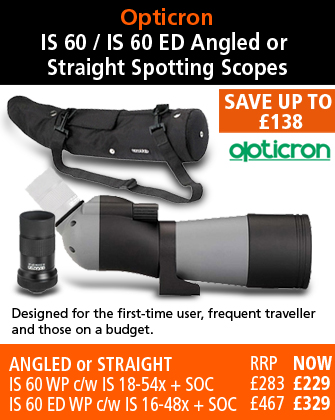 Opticron IS 60 WP and IS 60 ED WP Spotting Scopes