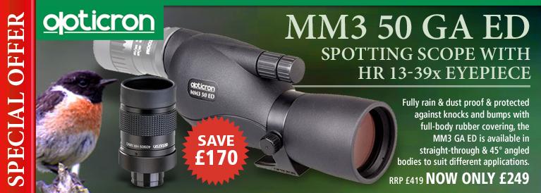 Opticron MM3 50 GA ED Spotting Scope With HR 13-39x Eyepiece