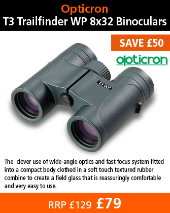 Opticron T3 Trailfinder WP 8x32 Binoculars