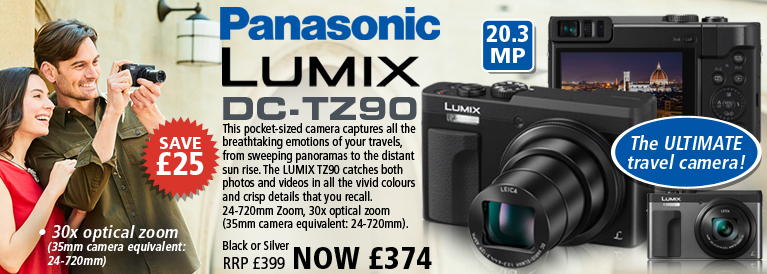 Panasonic DC-TZ90 20.3MP Superzoom Digital Camera - Silver or Black