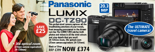 Panasonic DC-TZ90 20.3MP Superzoom Digital Camera - Silver or Black