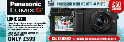 Panasonic LUMIC GX80 4K Black Camera Kit CASH BACK OFFER