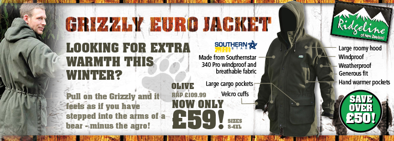 Ridgeline Grizzly Euro Jacket - Olive