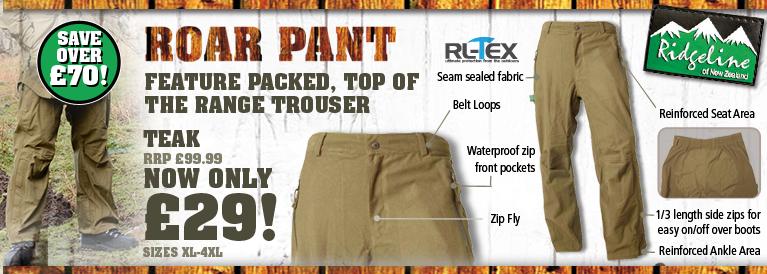Ridgeline Roar Trousers - Teak